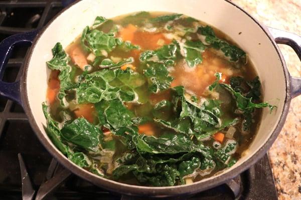 White Bean Sausage Kale Soup