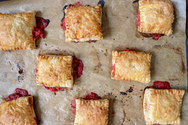 On-the-go Summertime Snacks Strawberry Rhubarb Turnovers